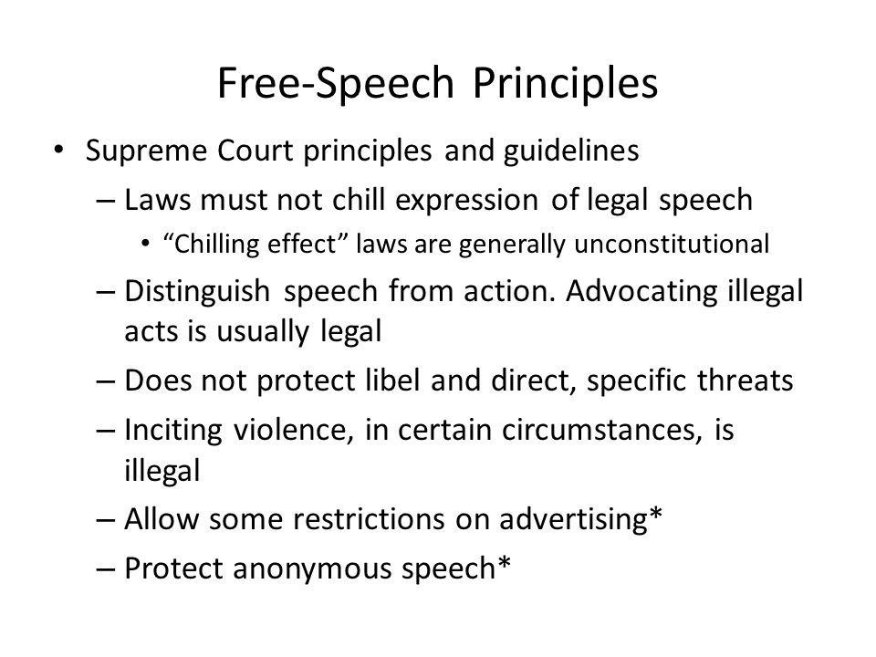 Free-Speech Principles