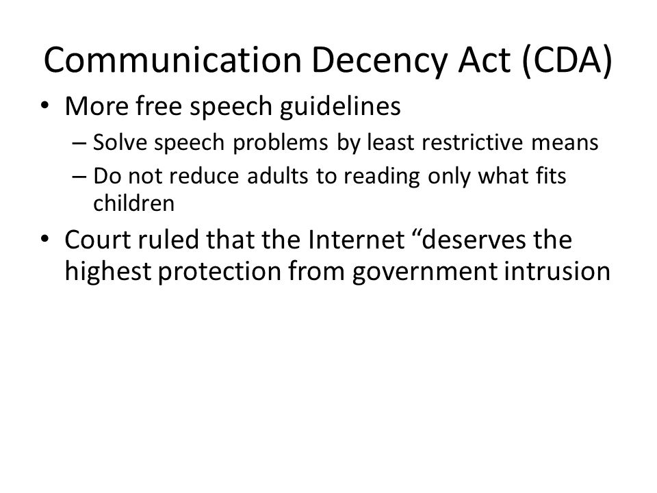 Communication Decency Act (CDA)