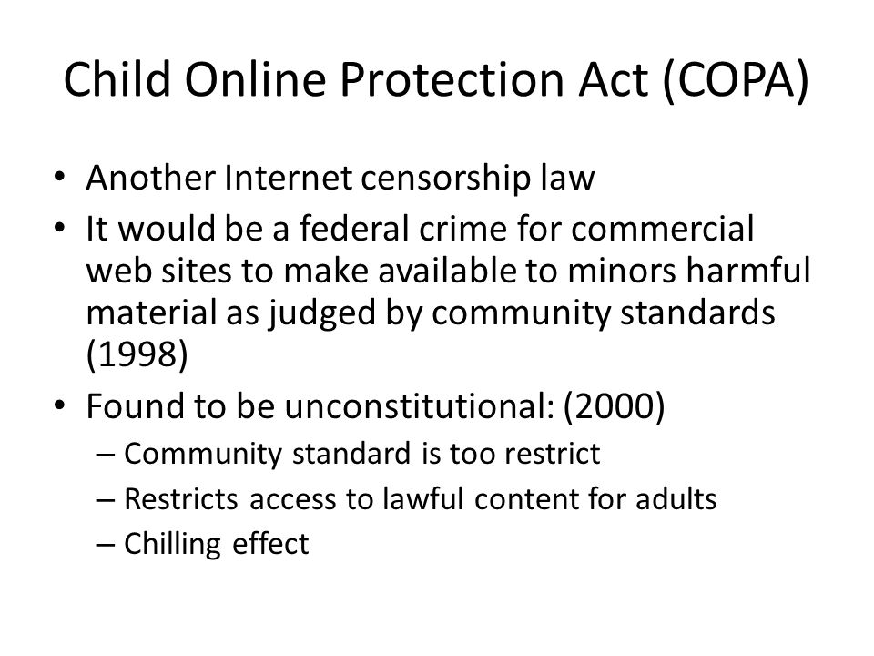Child Online Protection Act (COPA)