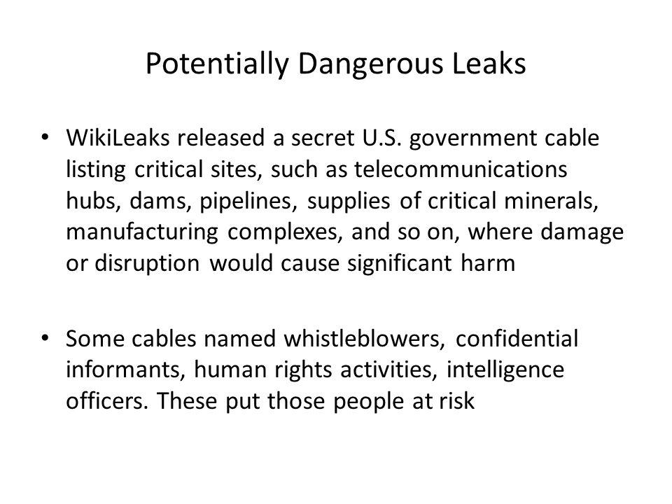 Potentially Dangerous Leaks