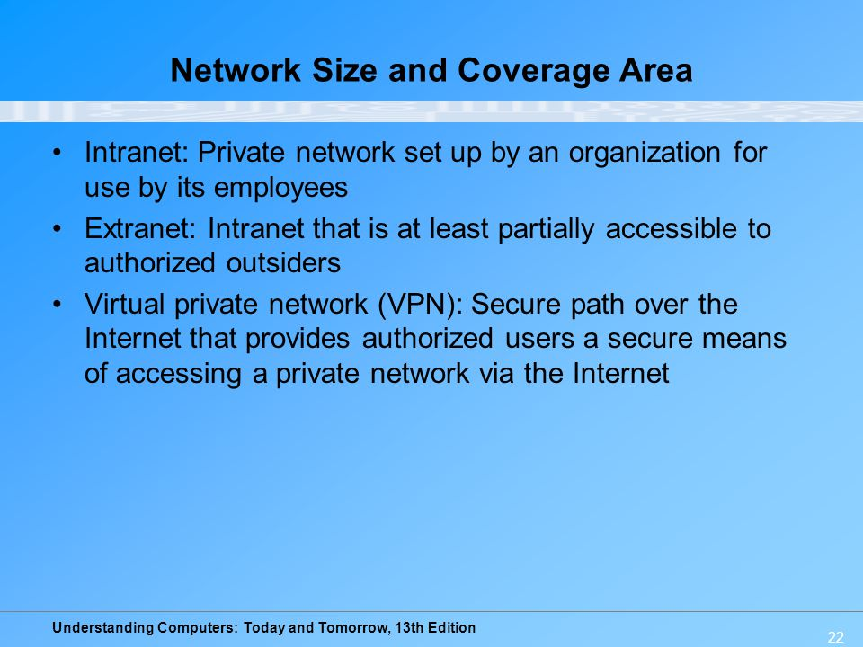 Network Size and Coverage Area