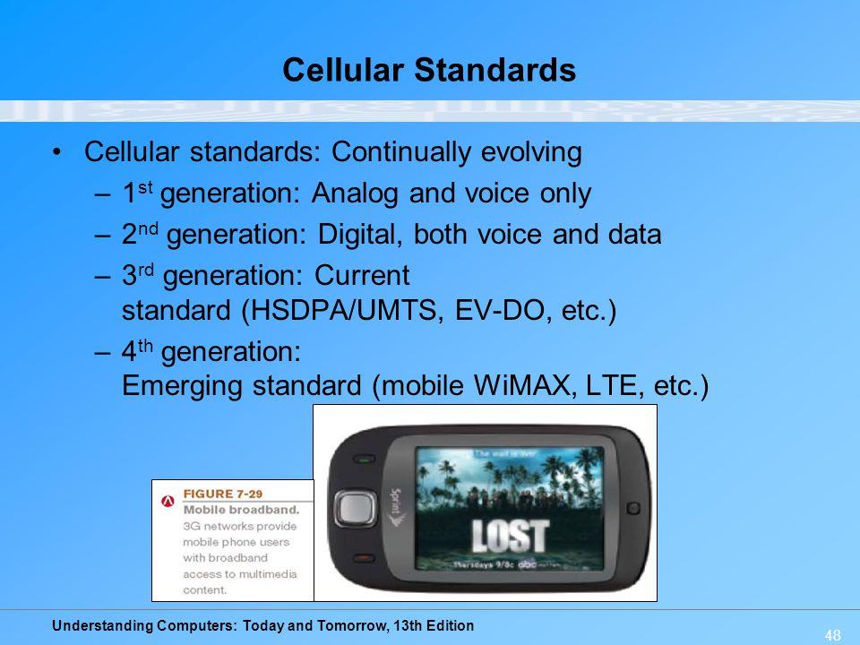 Cellular Standards Cellular standards: Continually evolving