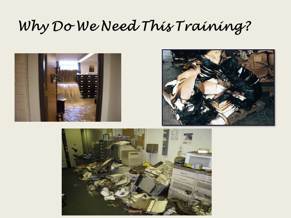 Why Do We Need This Training