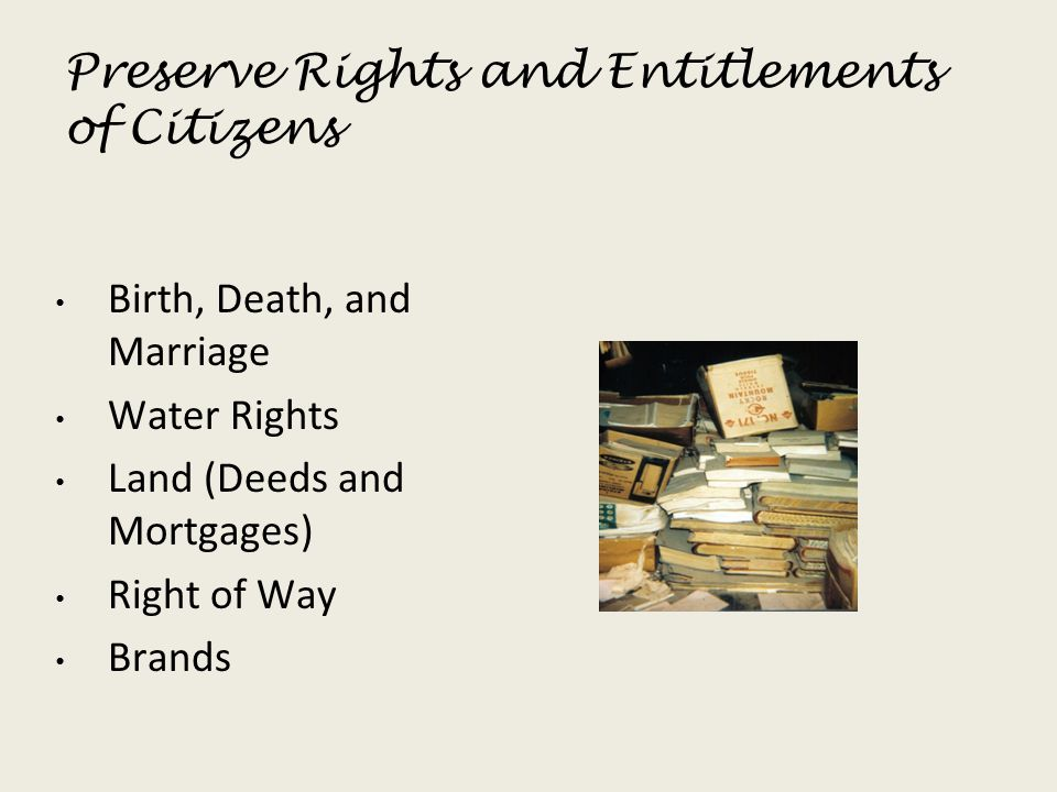 Preserve Rights and Entitlements of Citizens