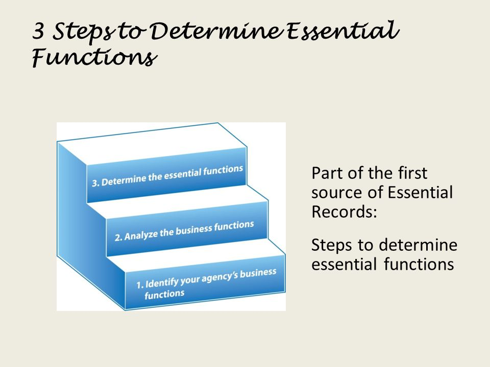3 Steps to Determine Essential Functions