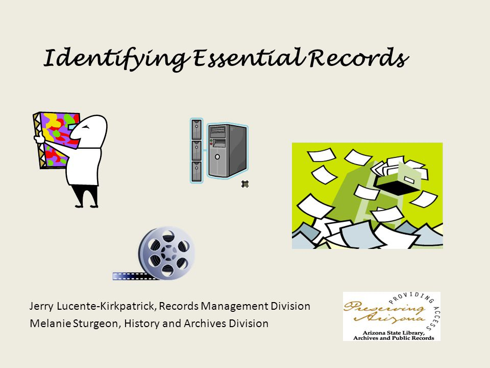 Identifying Essential Records