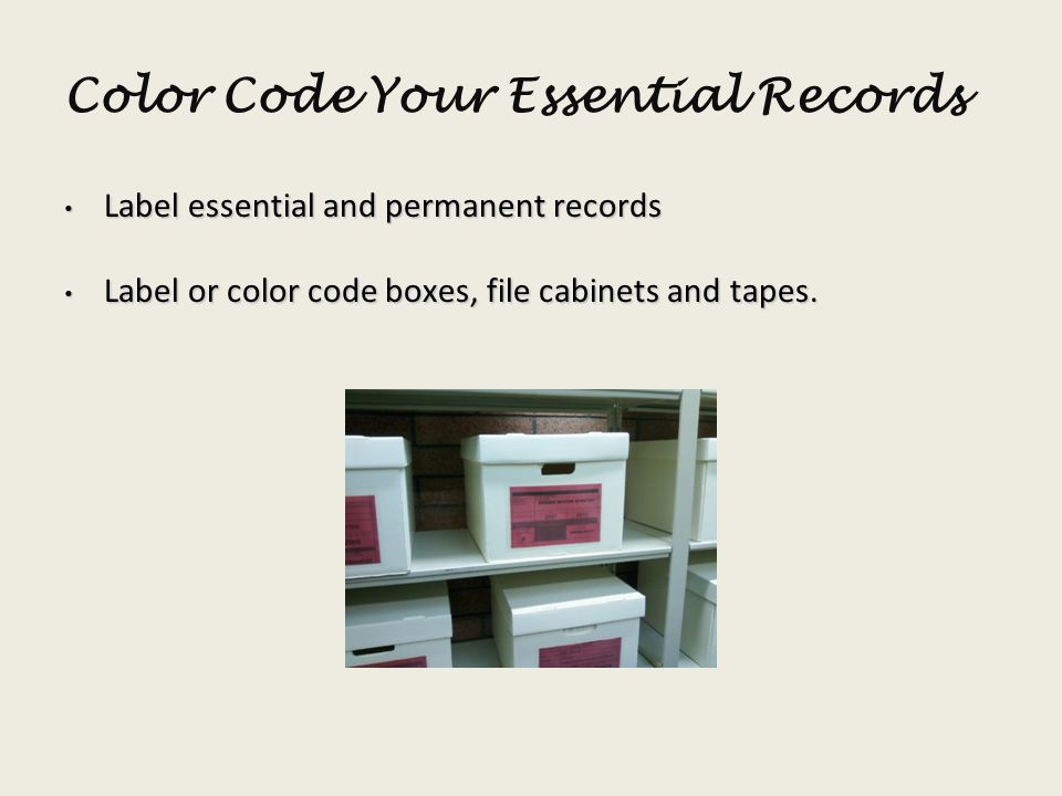 Color Code Your Essential Records