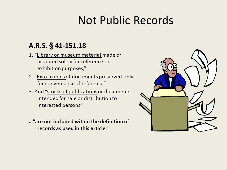 Not Public Records A.R.S. § 41-151.18
