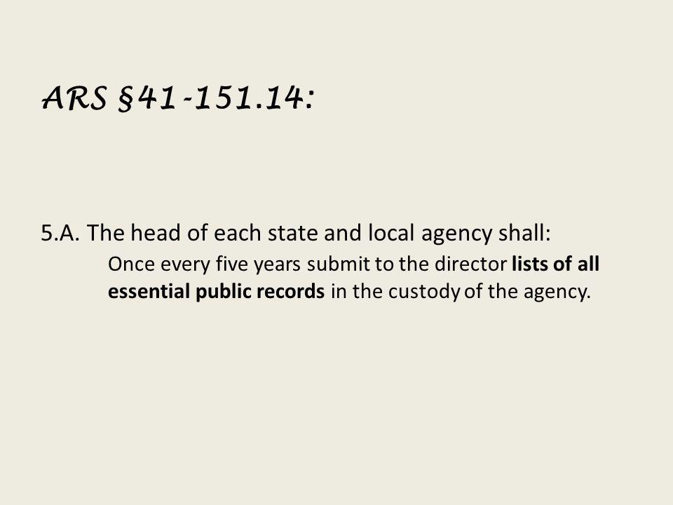 ARS §41-151.14: