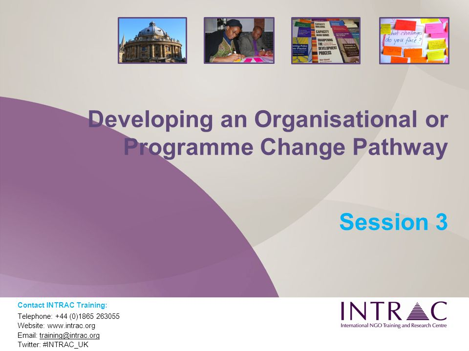 Developing an Organisational or Programme Change Pathway