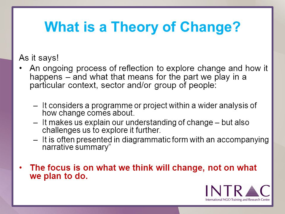 What is a Theory of Change
