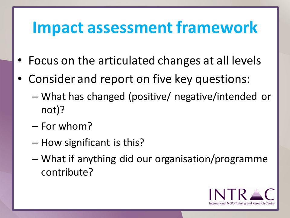 Impact assessment framework