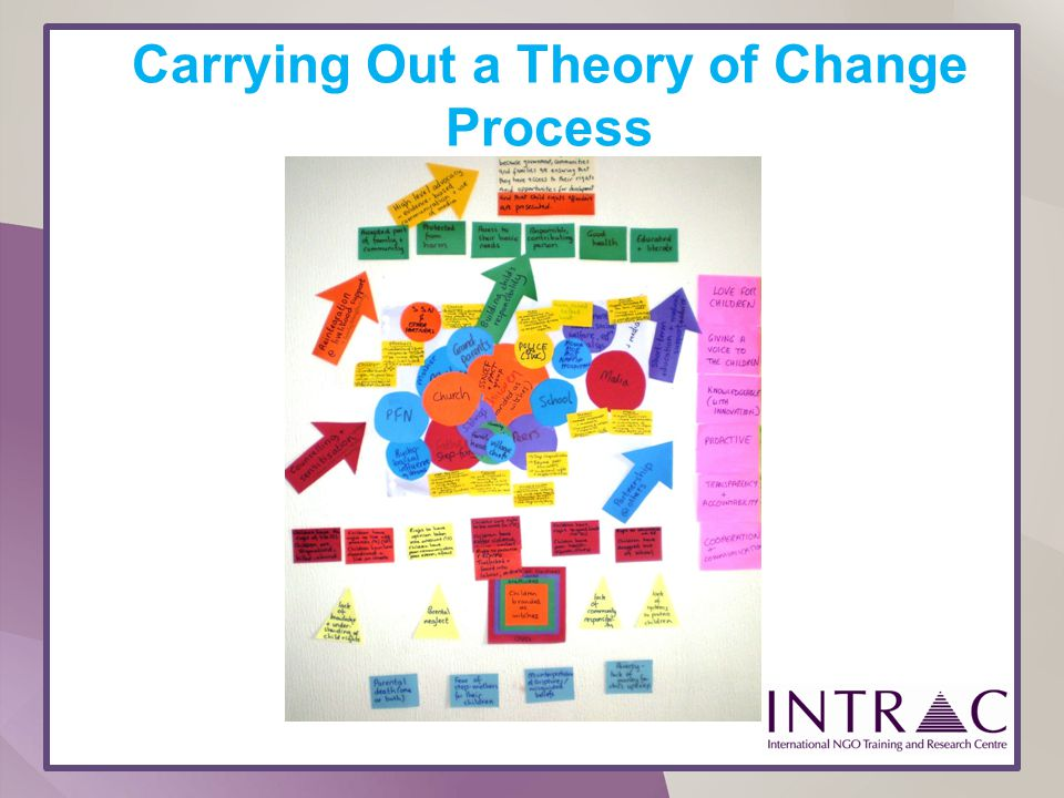 Carrying Out a Theory of Change Process