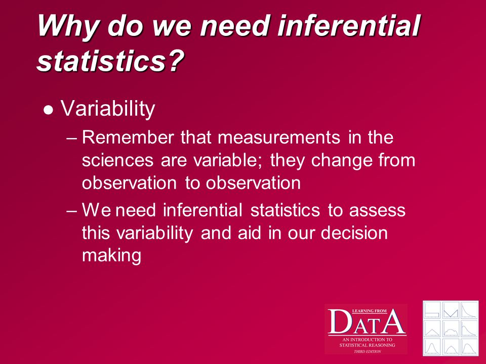 Why do we need inferential statistics