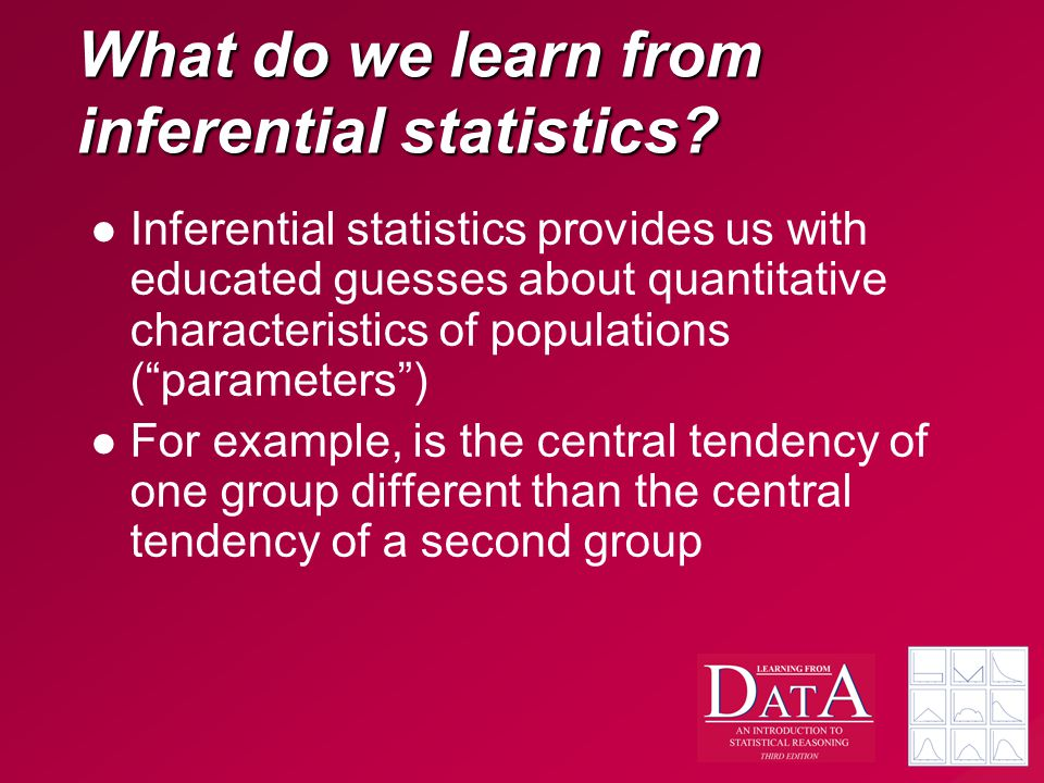 What do we learn from inferential statistics