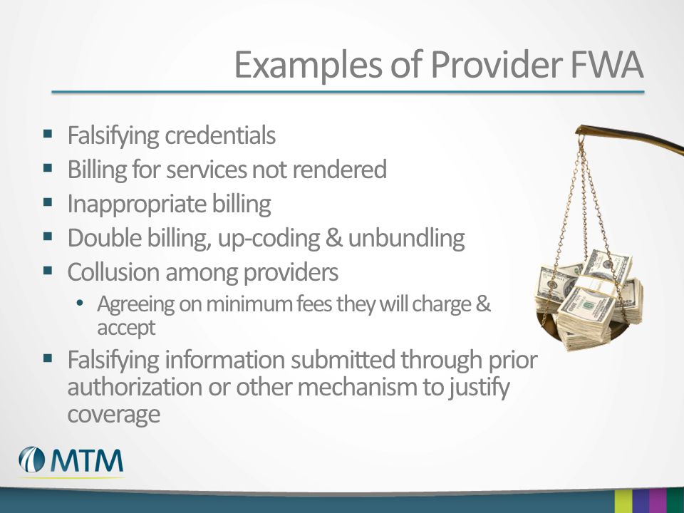 Examples of Provider FWA