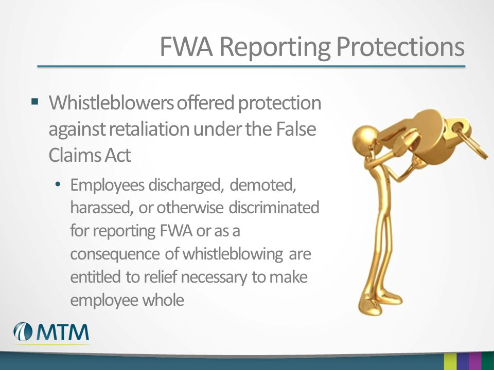 FWA Reporting Protections