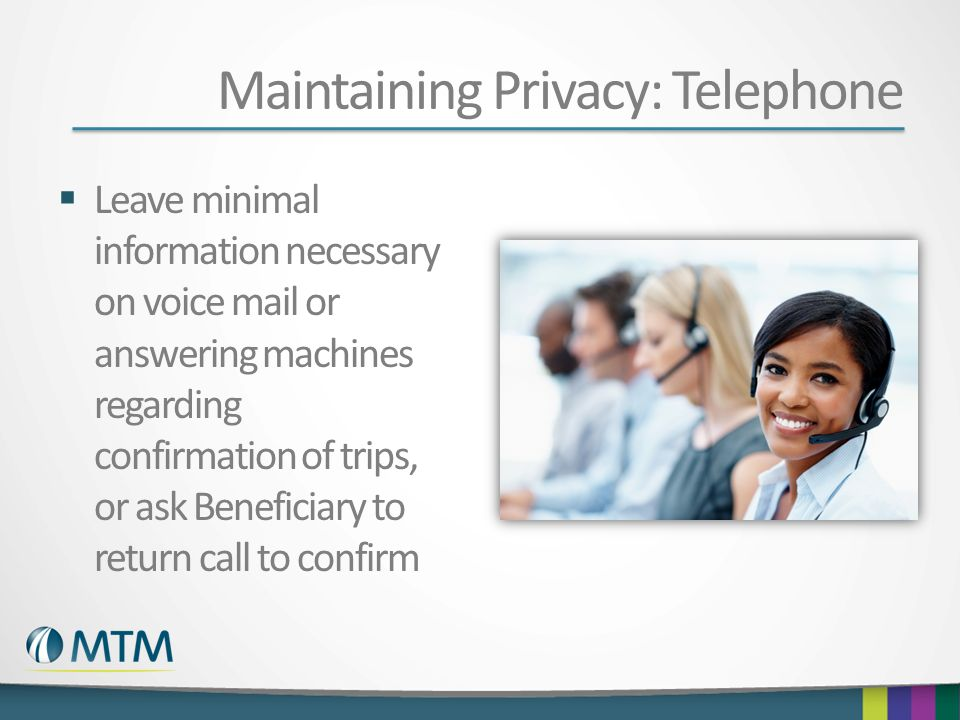 Maintaining Privacy: Telephone