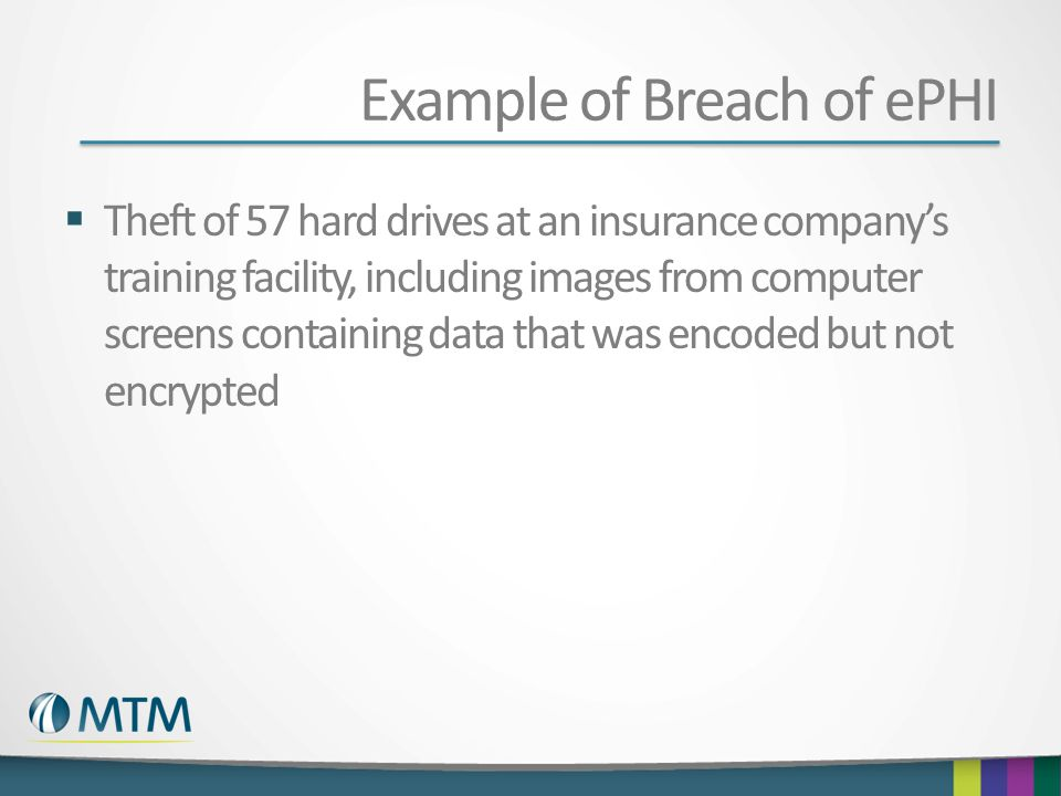 Example of Breach of ePHI