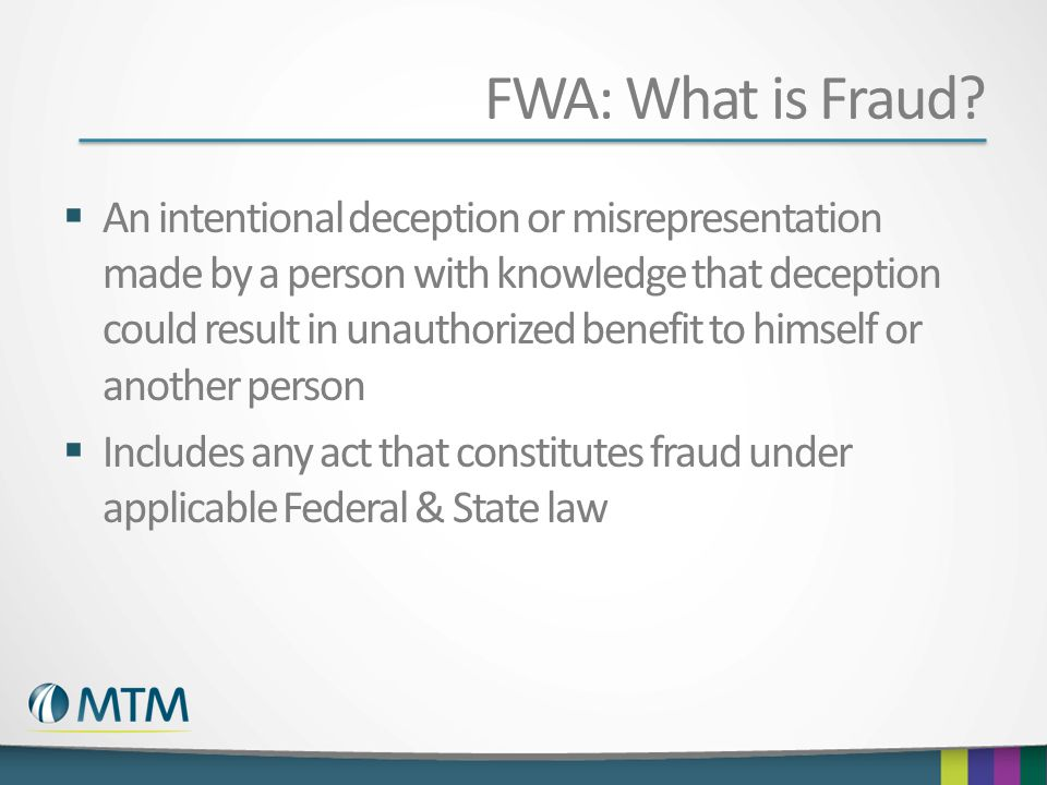FWA: What is Fraud