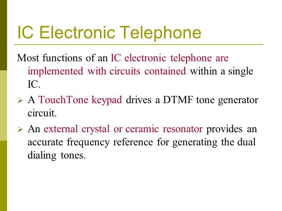 IC Electronic Telephone