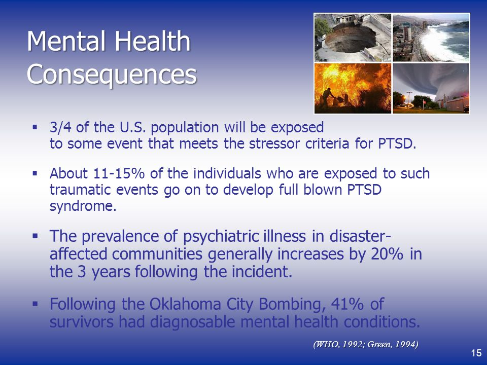 Mental Health Consequences
