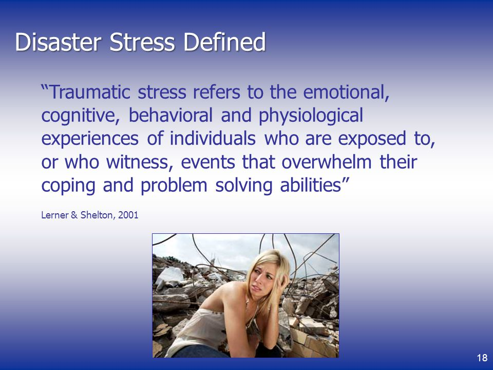 Disaster Stress Defined