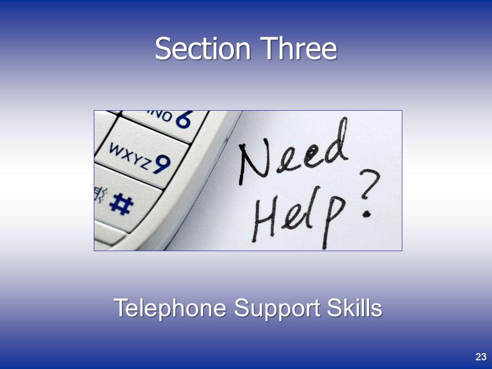 Telephone Support Skills
