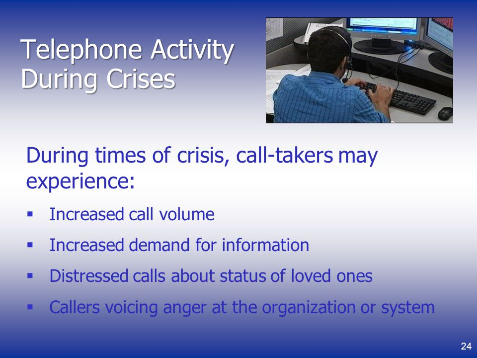 Telephone Activity During Crises