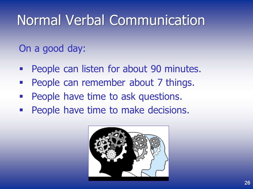 Normal Verbal Communication