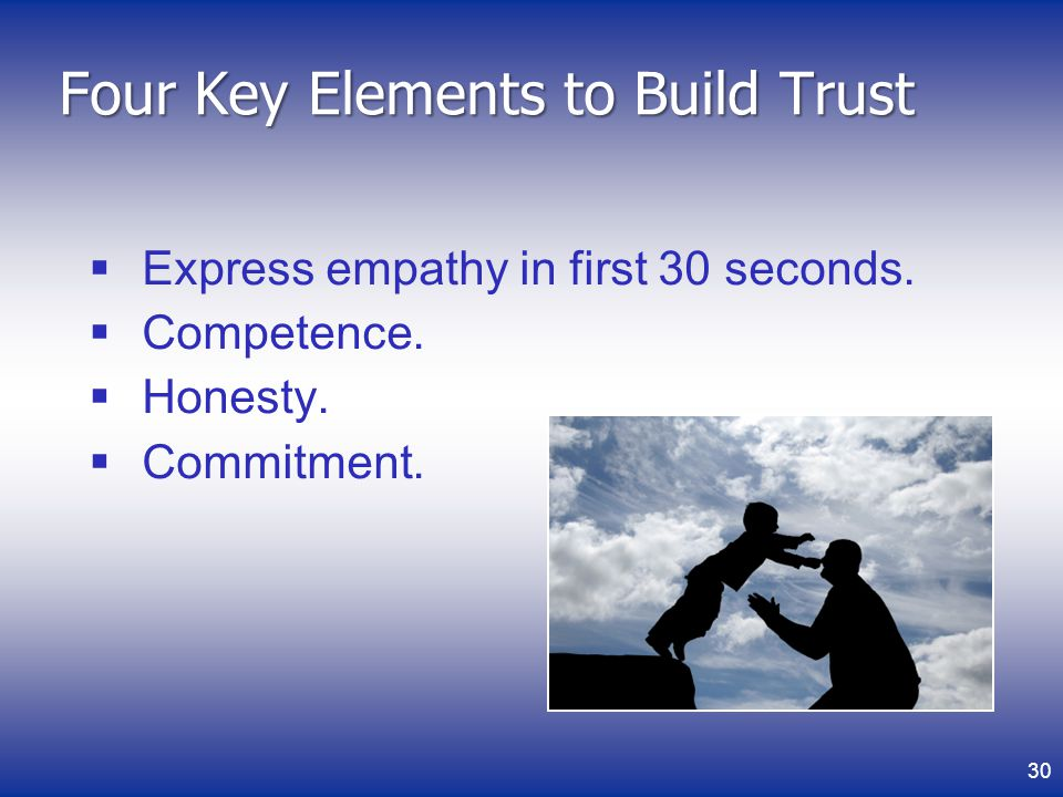 Four Key Elements to Build Trust