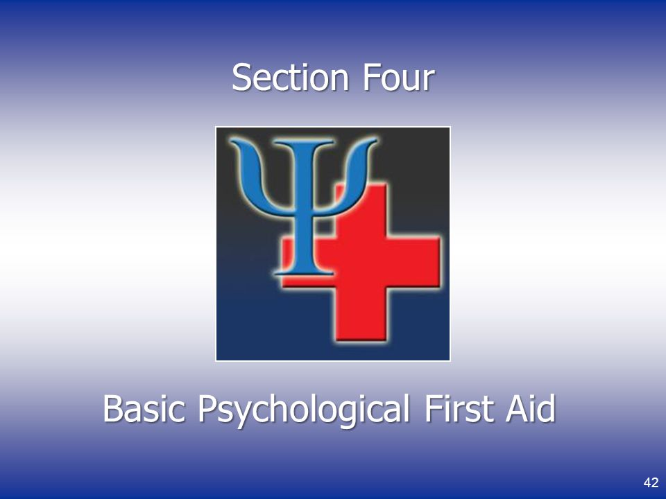 Basic Psychological First Aid