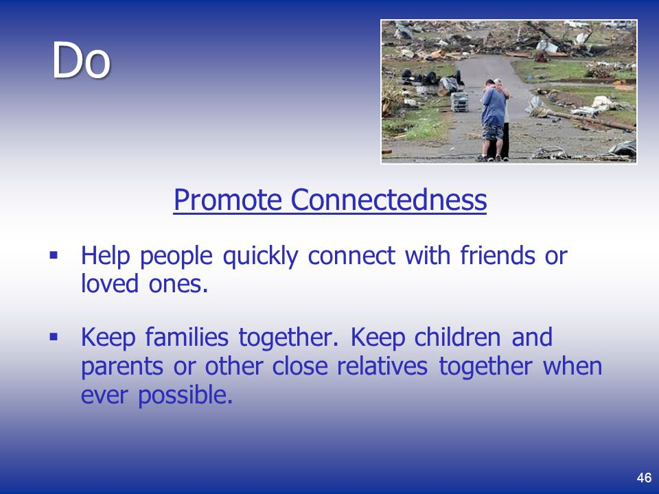 Promote Connectedness