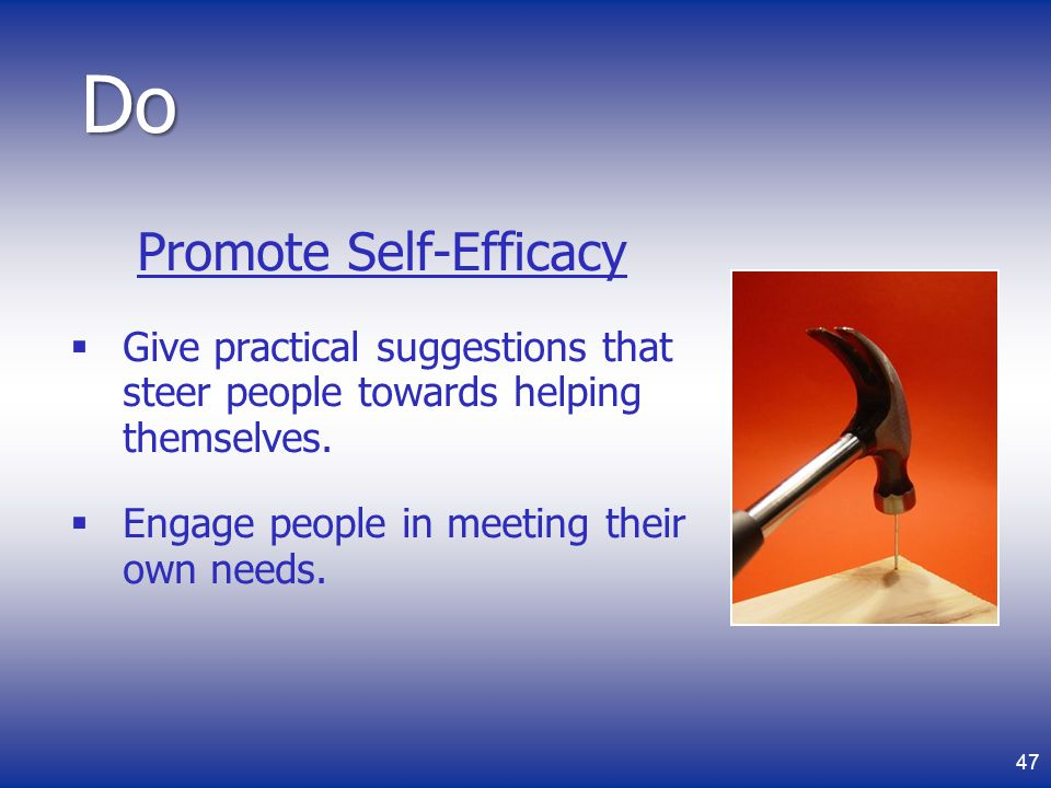 Promote Self-Efficacy