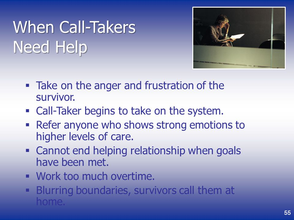 When Call-Takers Need Help