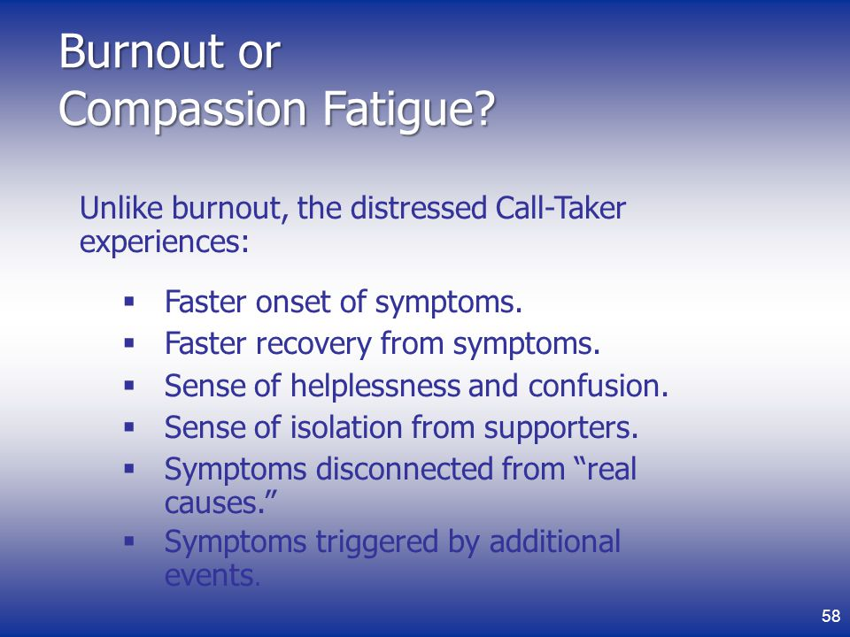 Burnout or Compassion Fatigue