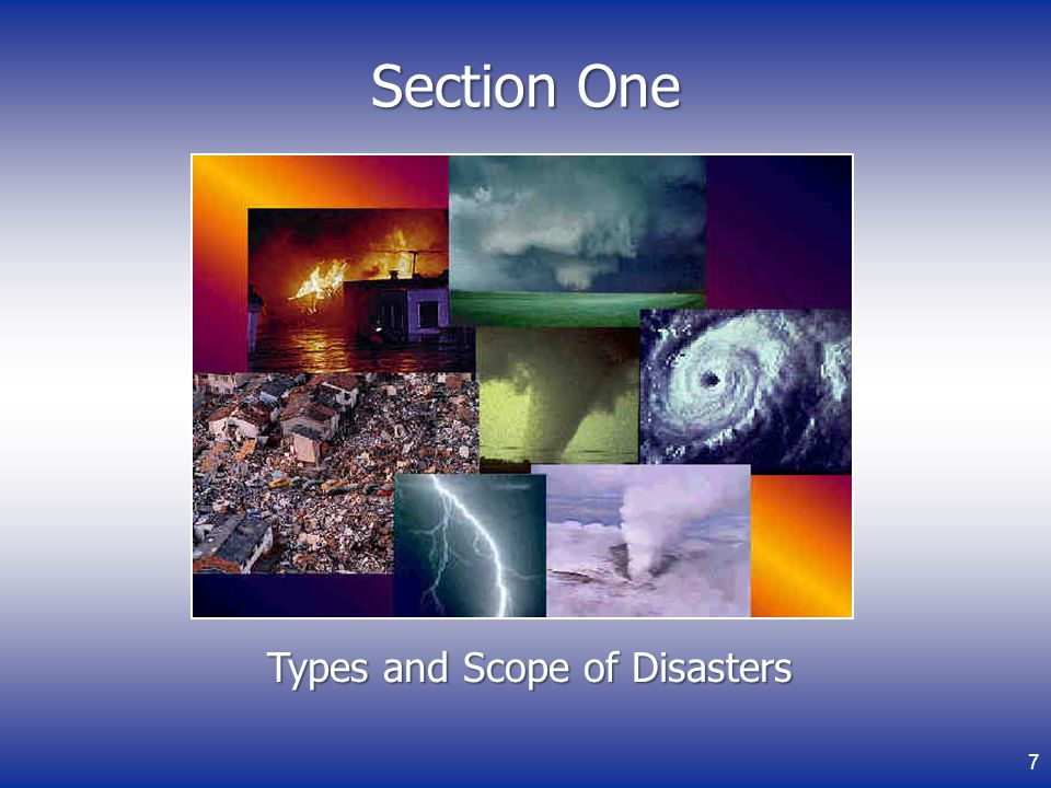 Types and Scope of Disasters