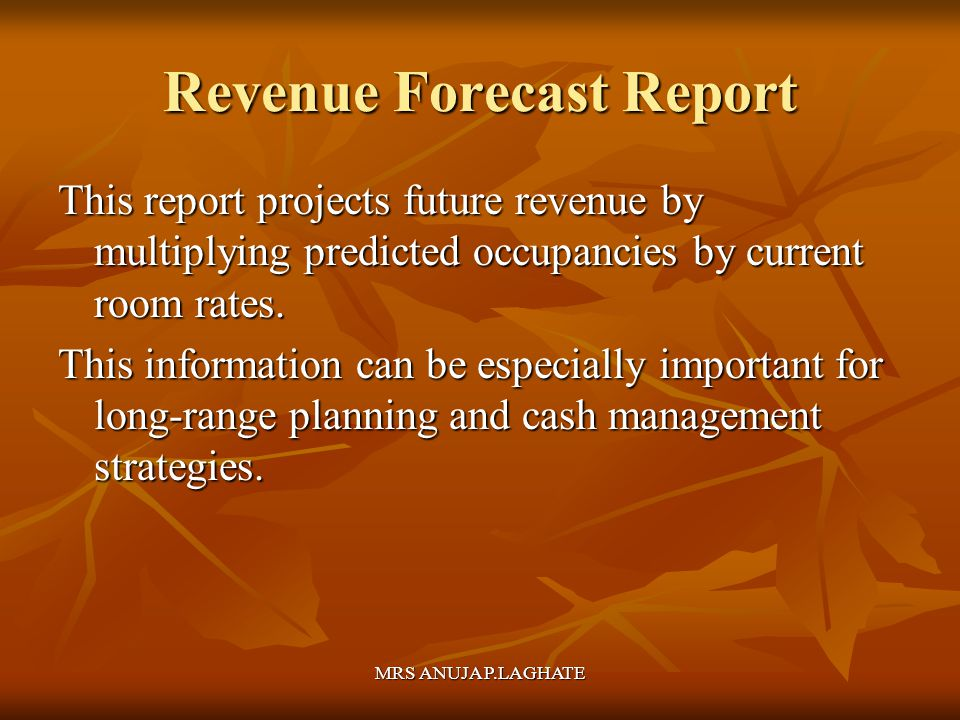 Revenue Forecast Report
