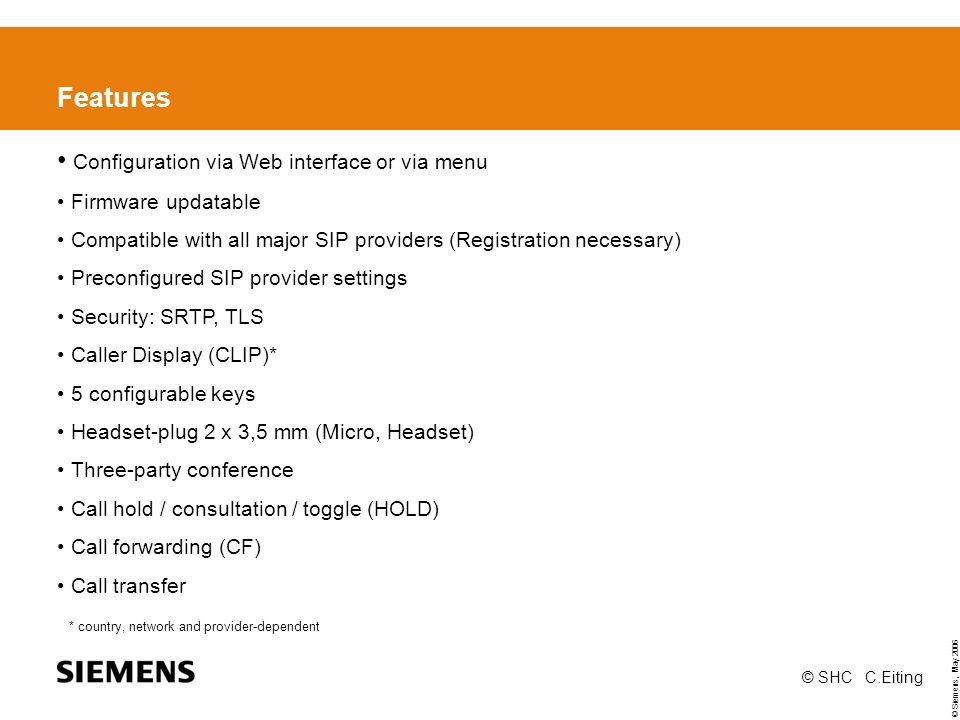 Configuration via Web interface or via menu