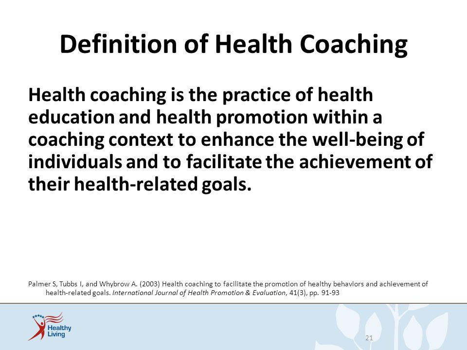 Definition of Health Coaching