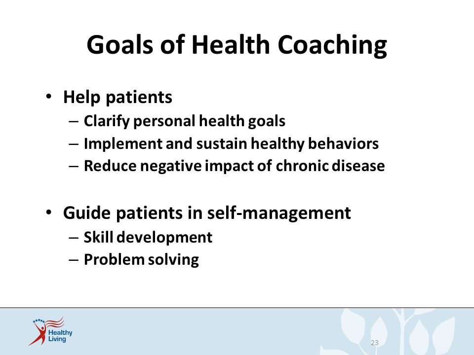 Goals of Health Coaching