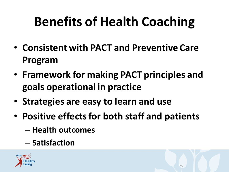 Benefits of Health Coaching