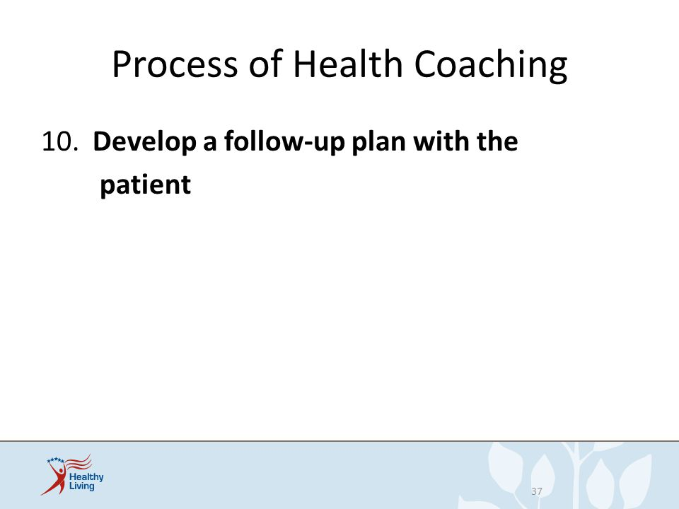 Process of Health Coaching