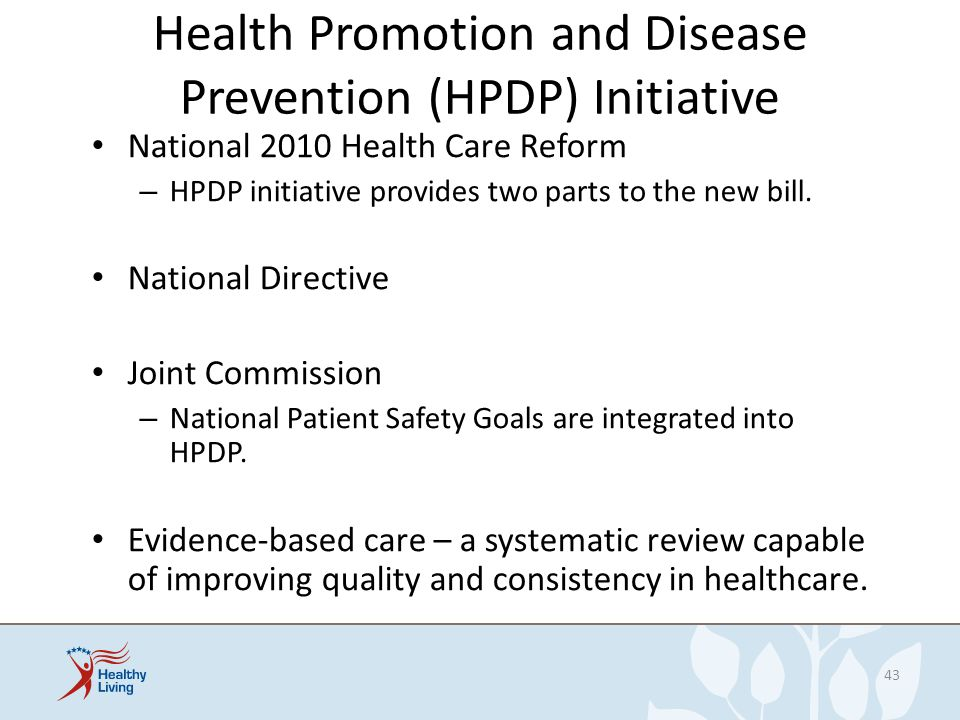 Health Promotion and Disease Prevention (HPDP) Initiative