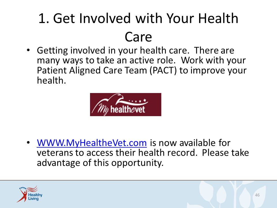 1. Get Involved with Your Health Care