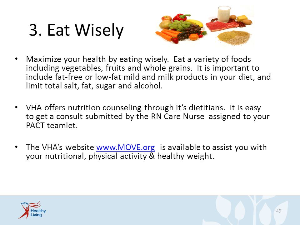 3. Eat Wisely
