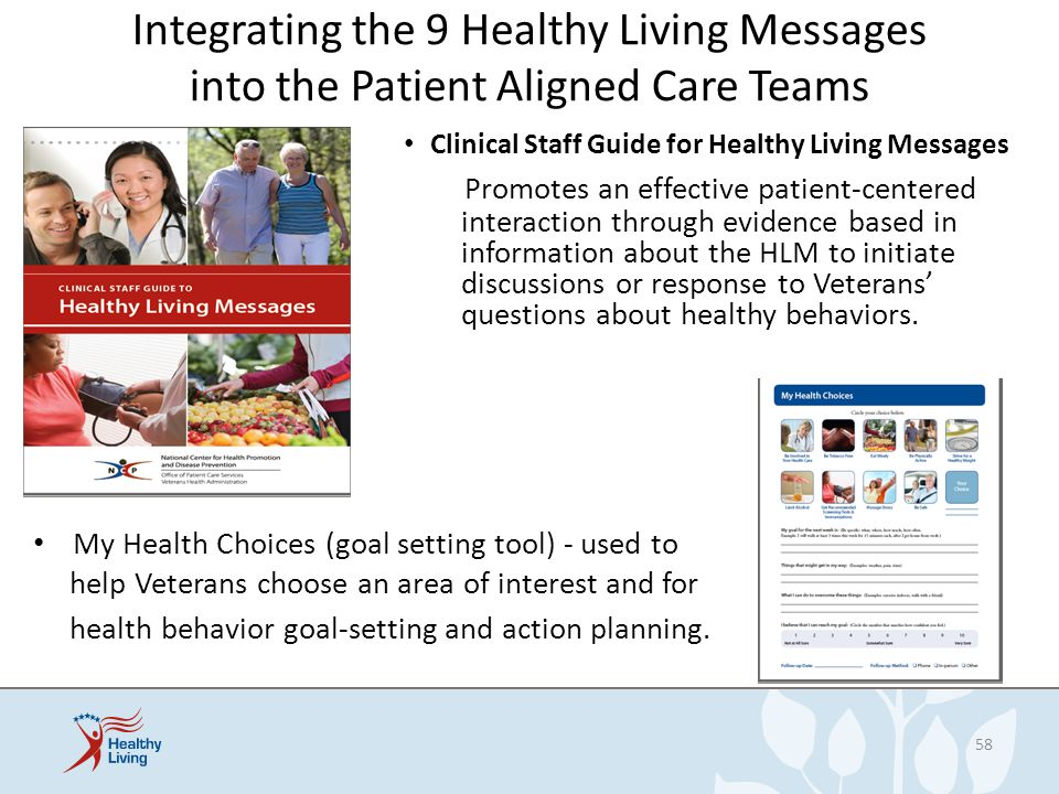 Integrating the 9 Healthy Living Messages into the Patient Aligned Care Teams