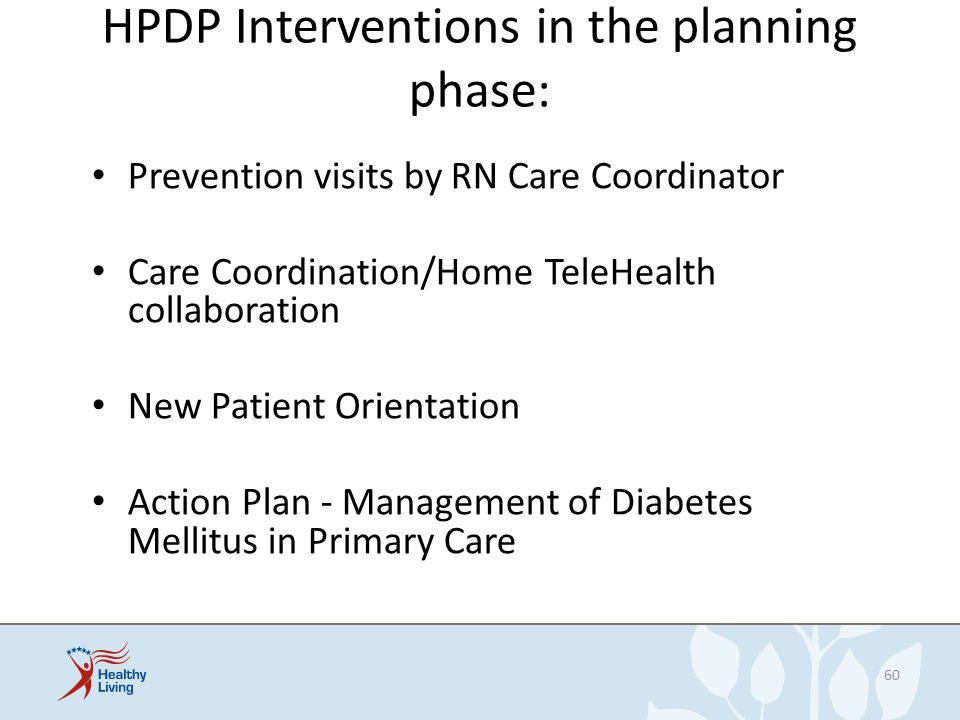 HPDP Interventions in the planning phase: