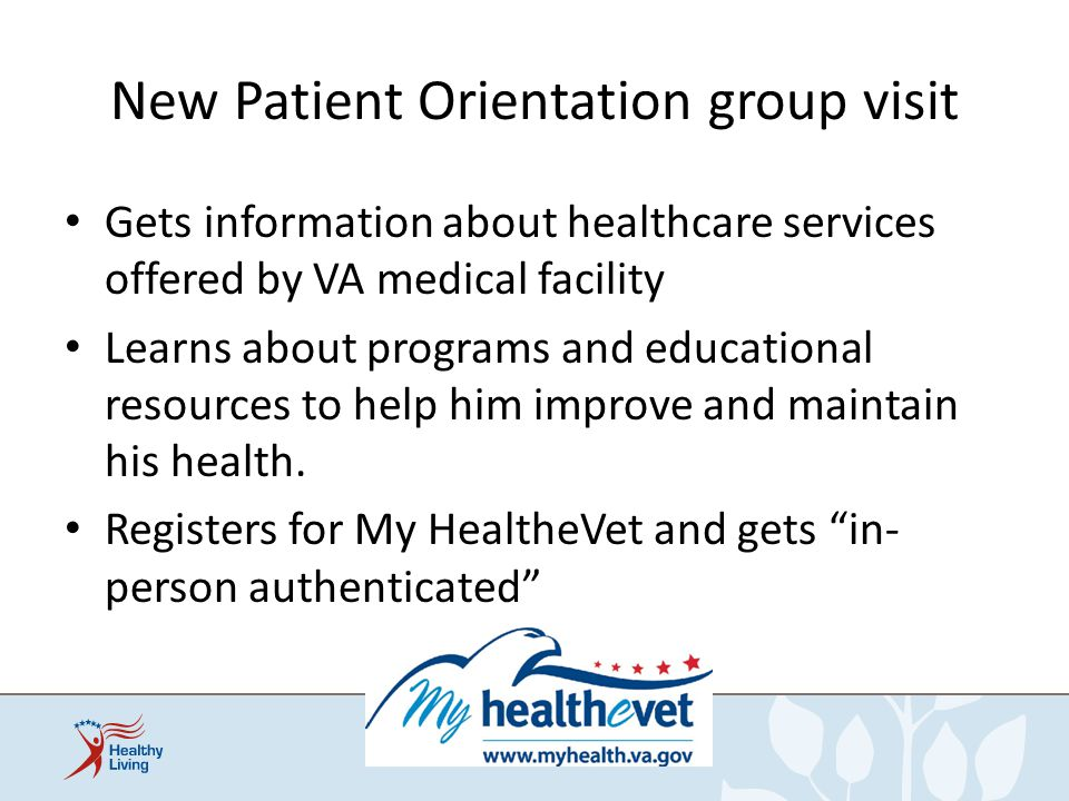 New Patient Orientation group visit