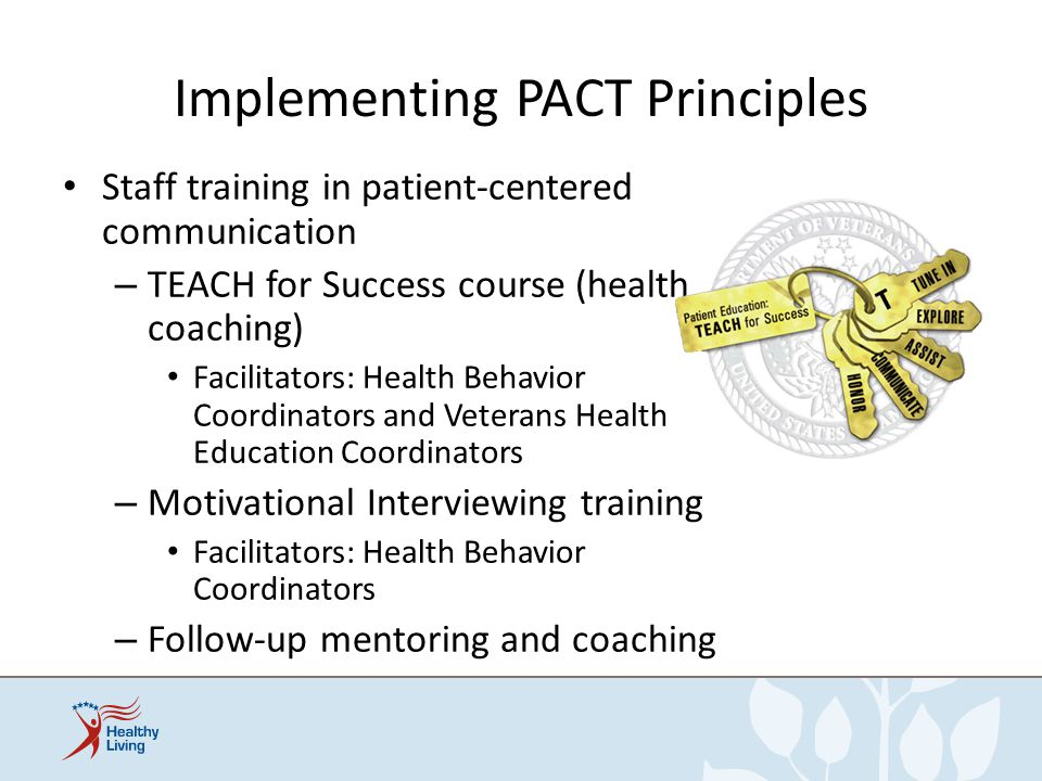 Implementing PACT Principles